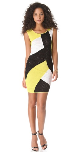 Catherine Malandrino Mixed Pointelle Dress