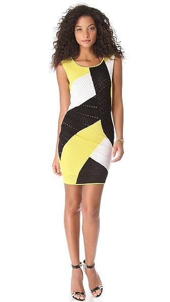 Catherine Malandrino Mixed Pointelle Dress