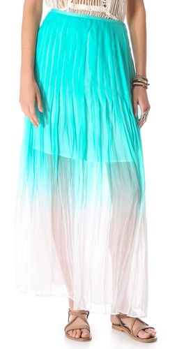 Catherine Malandrino Pleated Maxi Skirt