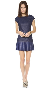 Catherine Malandrino Anjali Leather & Ponte Dress