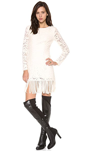 Catherine Malandrino Blythe Lace Dress with Fringe
