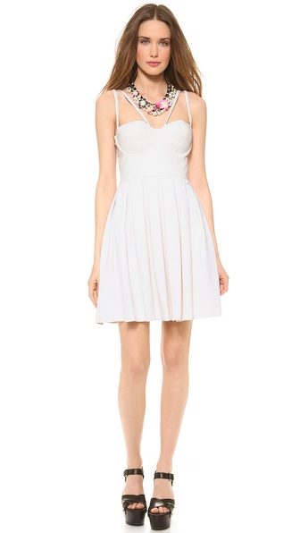 Catherine Malandrino Fit & Flare Bustier Dress