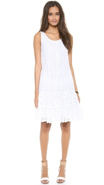 Catherine Malandrino Drop Waist Tiered Dress