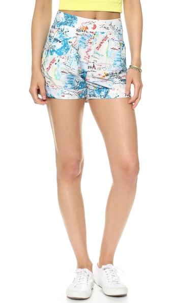 Catherine Malandrino Printed Shorts