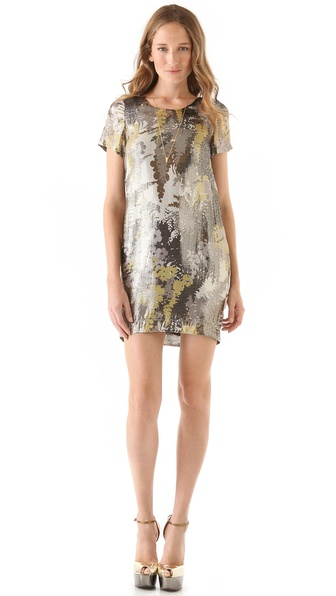 Chris Benz Short Sleeve Printed Dress