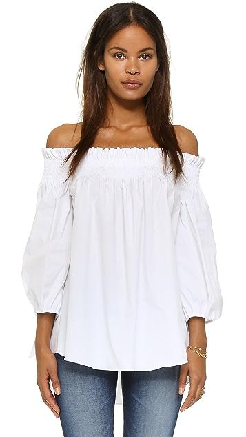 Caroline Constas Lou 露肩女式衬衫