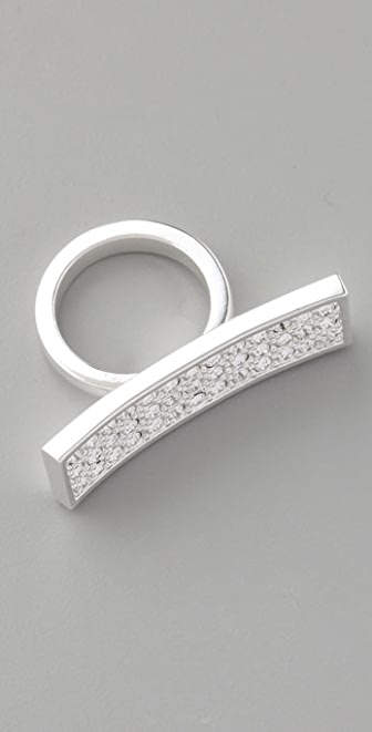 CC SKYE Pave Knuckle Ring