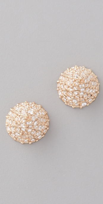 CC SKYE Pave Spike Stud Earrings