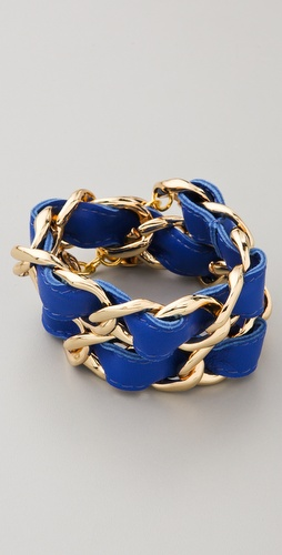 CC SKYE Double Wrap Woven Bracelet