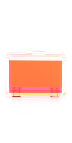 CC SKYE Bright Love Lucite Clutch at Shopbop / East Dane