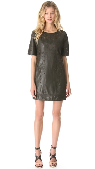 Catherine Deane Olina Leather Shift Dress