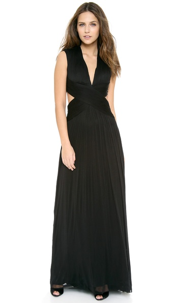 Catherine Deane Tara Crisscross Open Back Gown