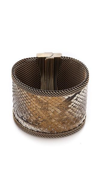 Cynthia Desser Snakeskin Reversible Wide Cuff