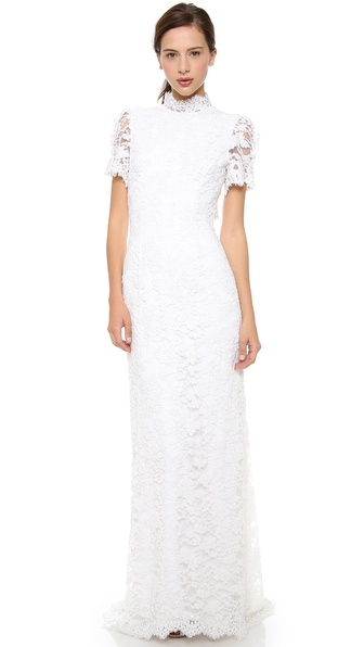 Collette Dinnigan V Back Gown with Train