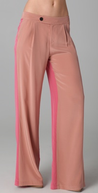 10 Crosby by Derek Lam Wide Leg Colorblock Trousers