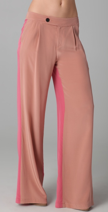 10 Crosby Derek Lam Wide Leg Colorblock Trousers