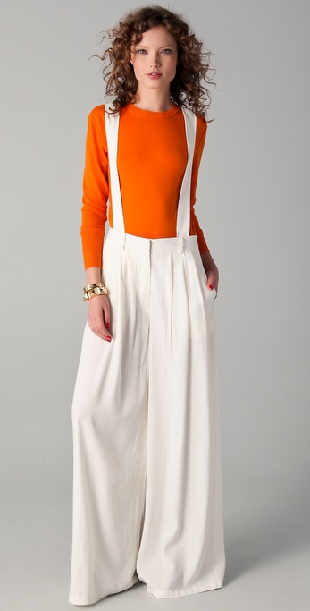10 Crosby Derek Lam Pleated Trousers with Suspenders
