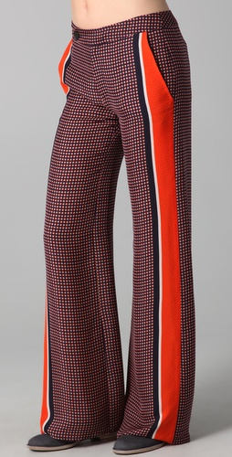 10 Crosby Derek Lam Wide Leg Print Trousers