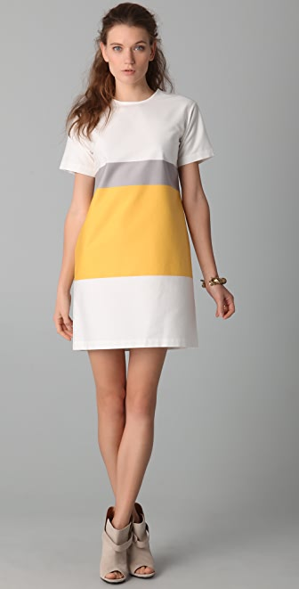 Derek Lam 10 Crosby Short Sleeve Tunic Dress