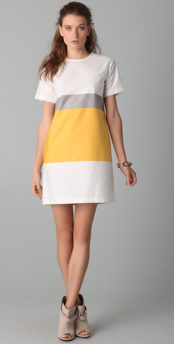 10 Crosby Derek Lam Short Sleeve Tunic Dress