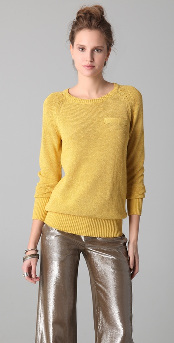 10 Crosby Derek Lam Long Sleeve Crew Neck Sweater