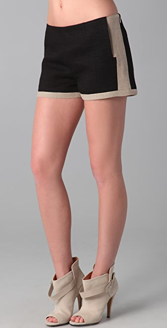 Derek Lam 10 Crosby Side Zip Shorts