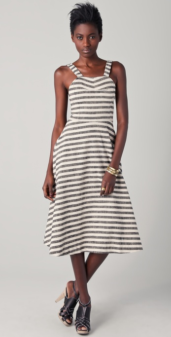 10 Crosby Derek Lam Striped Midi Circle Dress