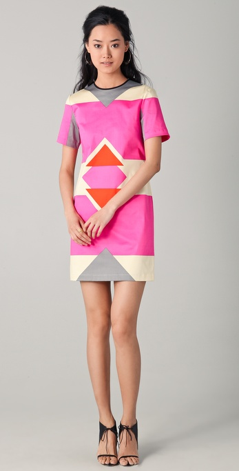 10 Crosby Derek Lam Short Sleeve Graphic Print Dress