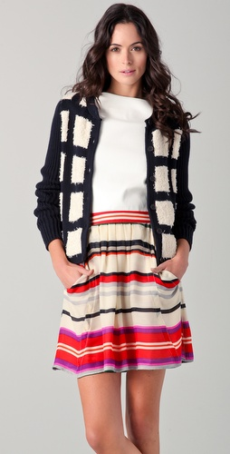 10 Crosby Derek Lam Checkered Front Cardigan