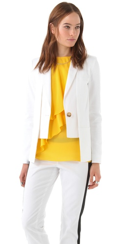 10 Crosby Derek Lam Shawl Collar One Button Jacket