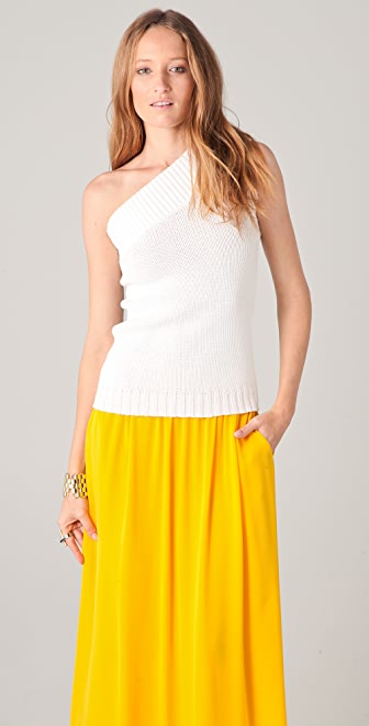 Derek Lam 10 Crosby One Shoulder Knit Top