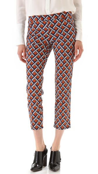 10 Crosby Derek Lam Lattice Print Cropped Pants