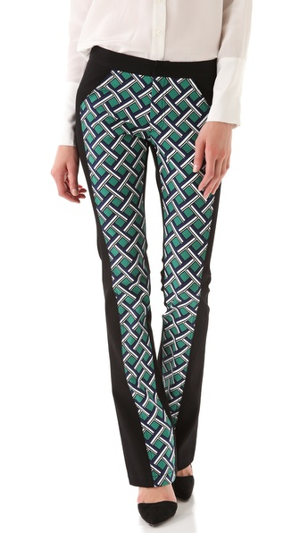 10 Crosby Derek Lam Seamed Lattice Print Pants
