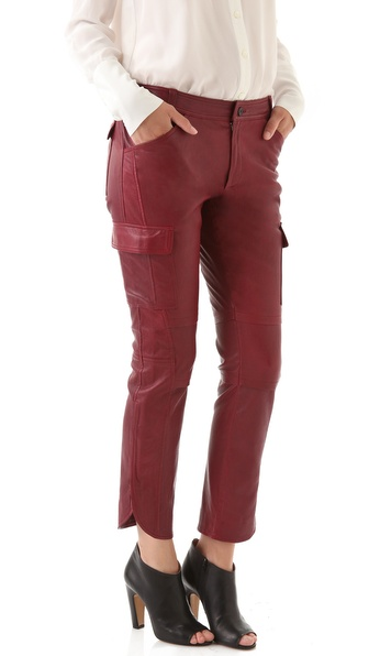 10 Crosby Derek Lam Stretch Leather Cargo Pants