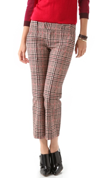 10 Crosby Derek Lam Houndstooth Cropped Flare Pants