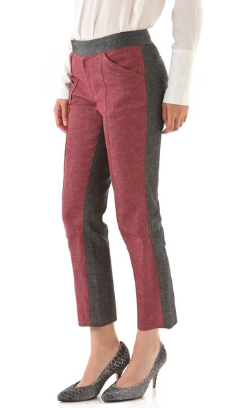 10 Crosby Derek Lam Western Denim Colorblock Jeans