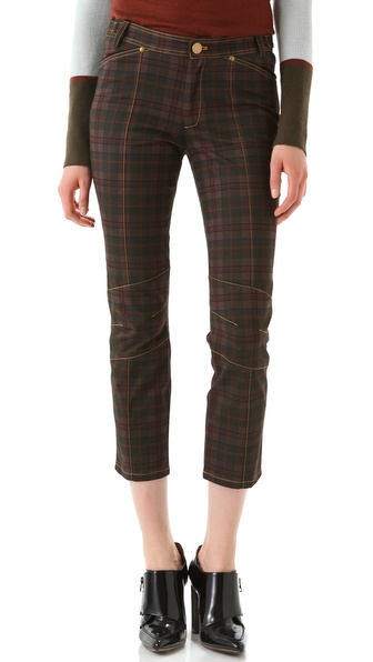 10 Crosby Derek Lam Sanded Plaid Pants