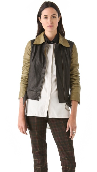 10 Crosby Derek Lam Combo Leather Jacket