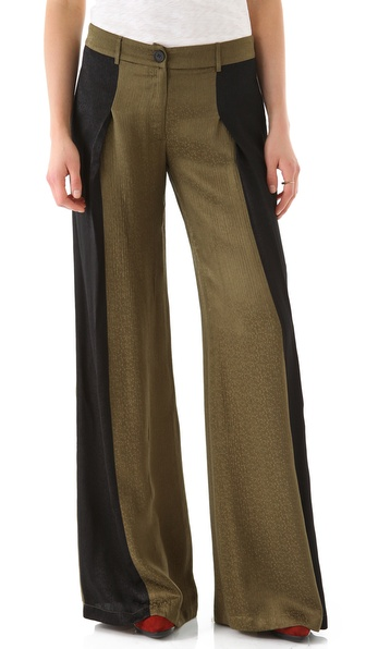10 Crosby Derek Lam Colorblock Wide Leg Trousers