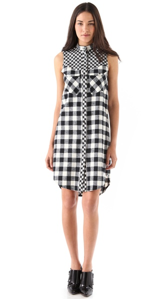 10 Crosby Derek Lam Flannel Sleeveless Dress