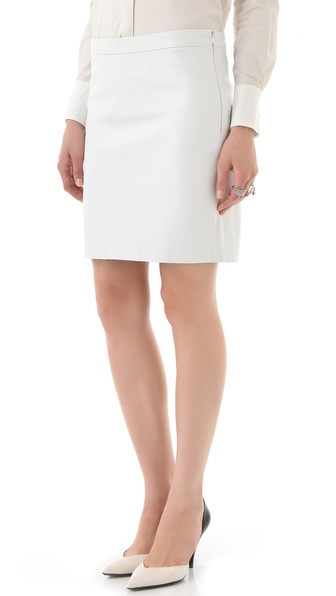 10 Crosby Derek Lam Leather Pencil Skirt