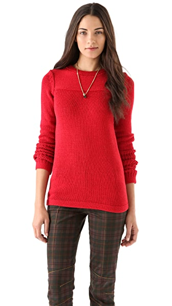 Derek Lam 10 Crosby Chunky Crew Neck Sweater