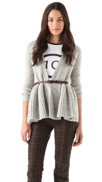10 Crosby Derek Lam Peplum Cardigan