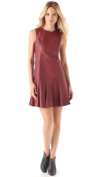 10 Crosby Derek Lam Leather Tulip Dress