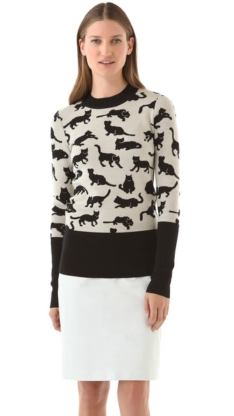 10 Crosby Derek Lam Kitty Print Sweater