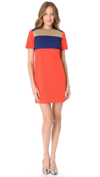 Derek Lam 10 Crosby Short Sleeve Crew Dress