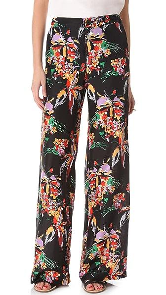 Derek Lam 10 Crosby Floral Wide Leg Pants