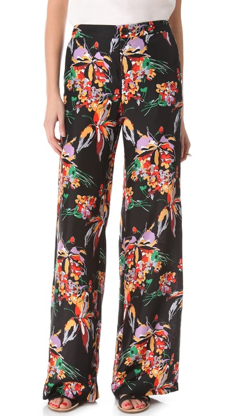 10 Crosby Derek Lam Floral Wide Leg Pants
