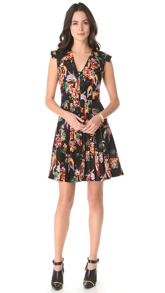 10 Crosby Derek Lam Floral Short Sleeve Dress