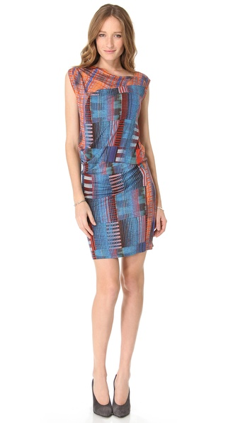 10 Crosby Derek Lam Draped Madras Tee Dress